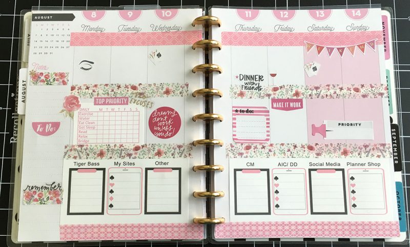 Happy Planner Pink Spread