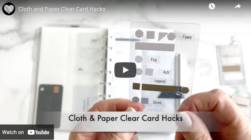 Planner Hacks with Clear Cards